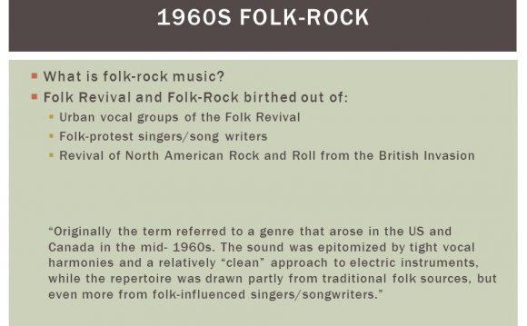 What is folk-rock music?