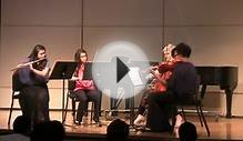 Illinois Wesleyan Chamber music Festival. Flute Quartet in